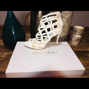 New Jimmy Choo Crisscross Satin Sandals